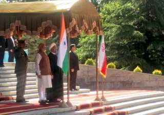 Military bands played national anthems of the two countries after which Modi inspected guard of honour.