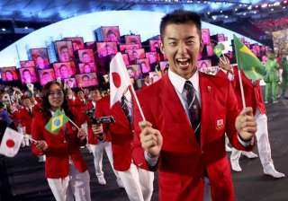 Athletes from Japan march in during the opening ceremony of Rio 2016 Olympics.