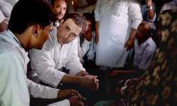 Rahul Gandhi during his visit to Gorakhpur on Saturday