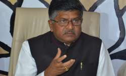 File pic of Union Minister Ravi Shankar Prasad