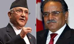 File pic - KP Oli and Pushpa Kamal Dahal 'Prachanda'