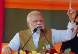 Narendra Modi addresses at an election rally in Fatehpur,- India Tv