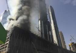 Fire at an under-construction tower in Dubai