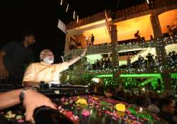 PM Modi reaches Surat, welcomed with road show- India Tv