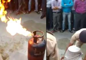 VIDEO: Here's how to douse the fire from a leaking- India Tv
