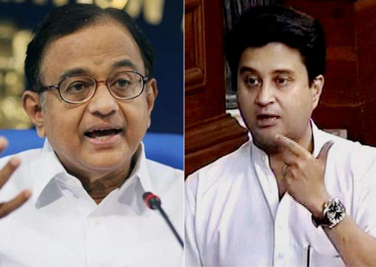 P Chidambaram and Jyotiraditya Scindia - India Tv