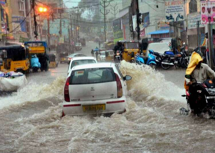 Hyderbad battered with rain- India Tv