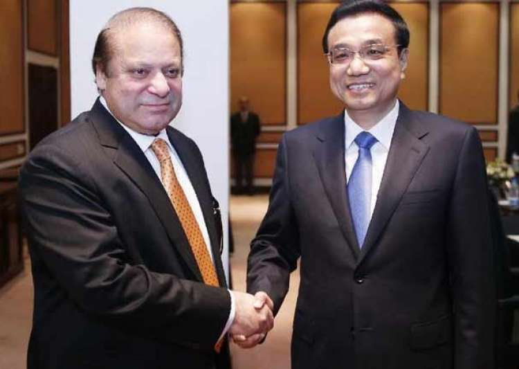 Nawaz Sharif with Premier Li Keqiang of the State Council- India Tv