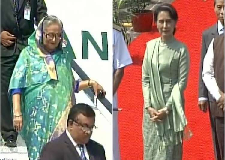 Sheikh Hasina, Suu Kyi. BRICS, BIMSTEC- India Tv