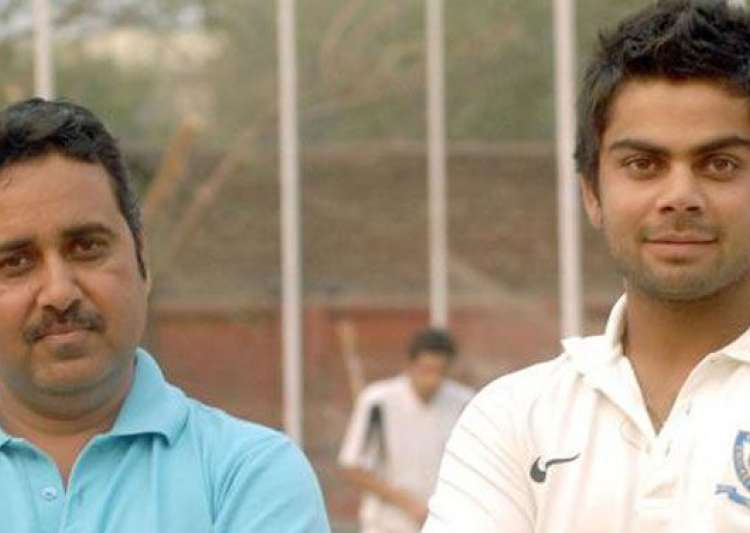 Virat Kohli with his mentor Rajkumar Sharma- India Tv