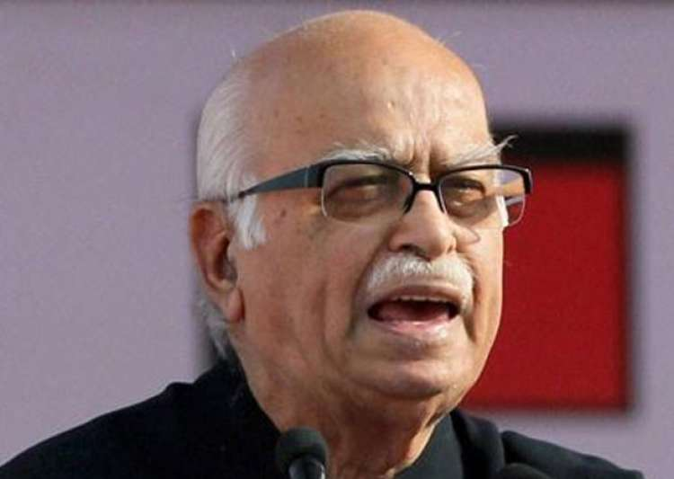 File pic of LK Advani speaking at an event.- India Tv