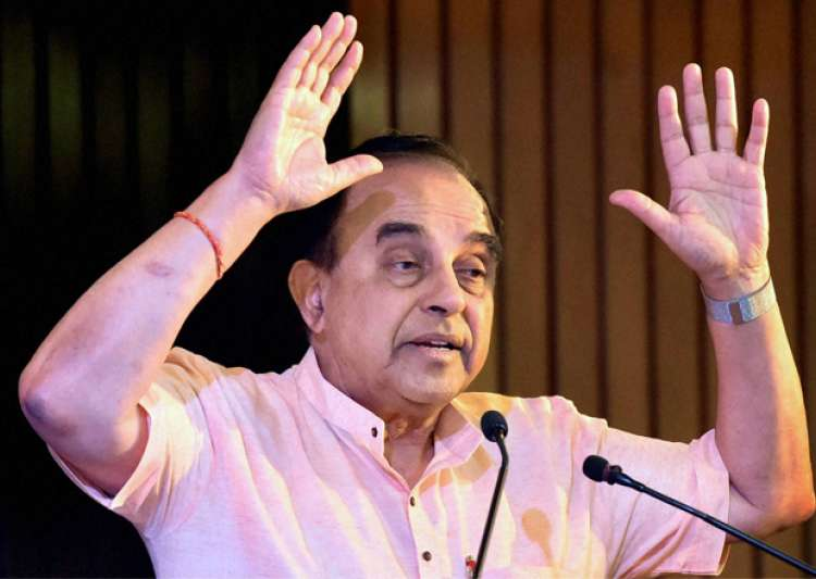 File pic - BJP leader Subramanian Swamy speaks at an event- India Tv