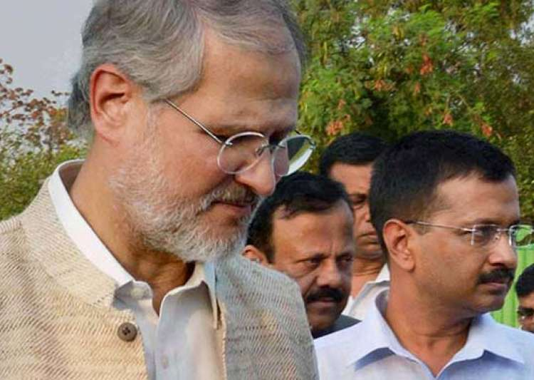 Arvind Kejriwal with Najeeb Jung- India Tv