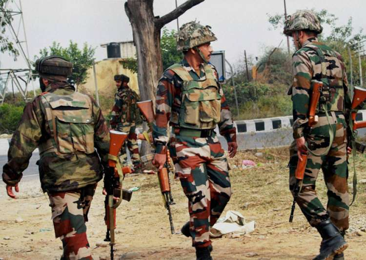 Jawans take position during and encounter in Nagrota- India Tv