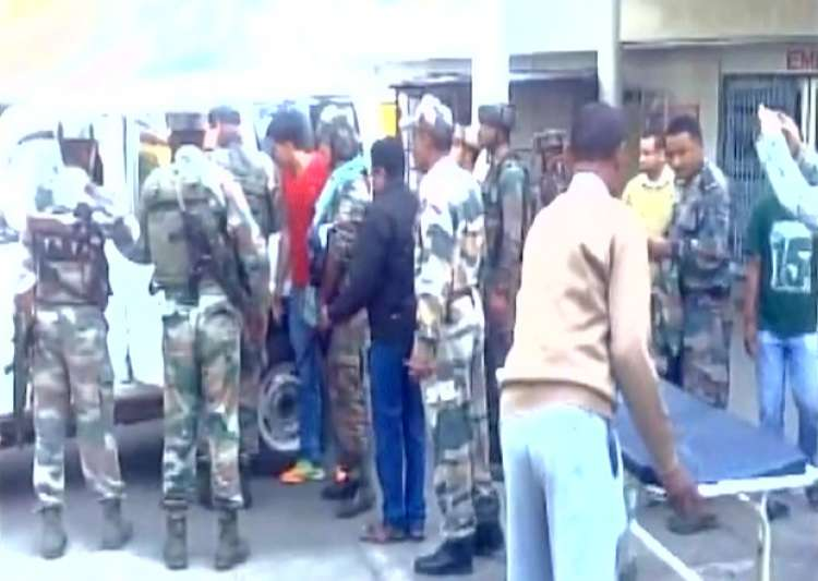 Injured jawans brought to a hospital in Tinsukia- India Tv