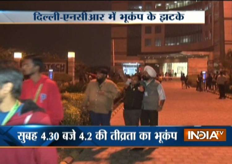 Quake in Delhi-NCR- India Tv
