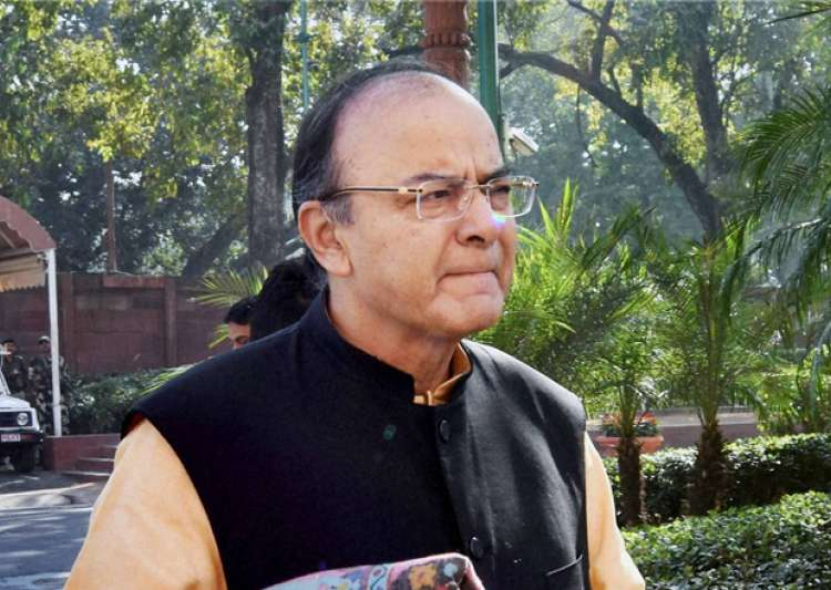 Finance Minister Arun Jaitley arrives at Parliament - India Tv