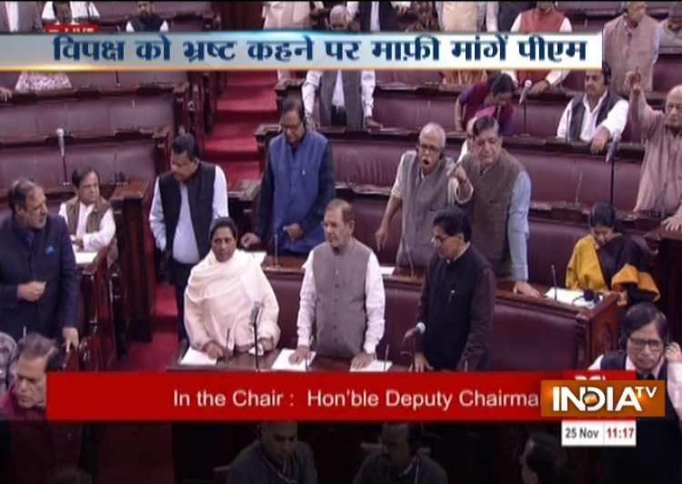 Opposition members in RS- India Tv