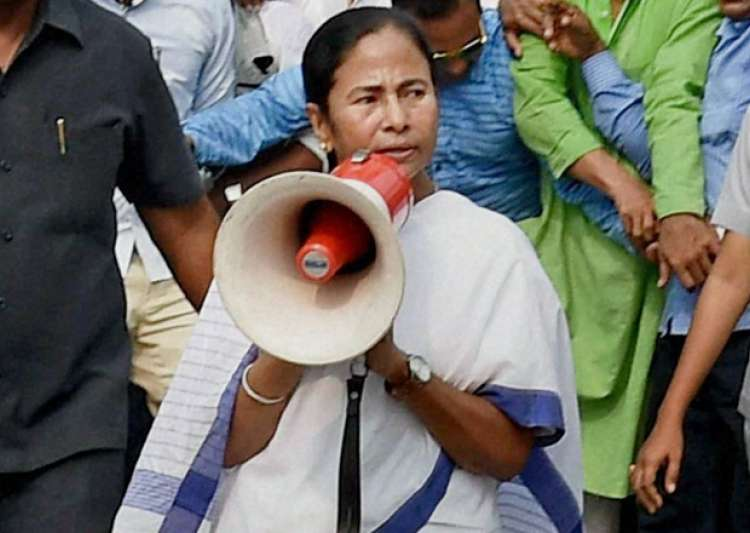 Mamata Banerjee addresses during a rally against- India Tv