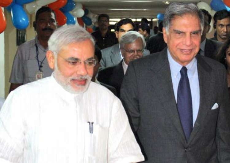 Ratan Tata with Modi- India Tv