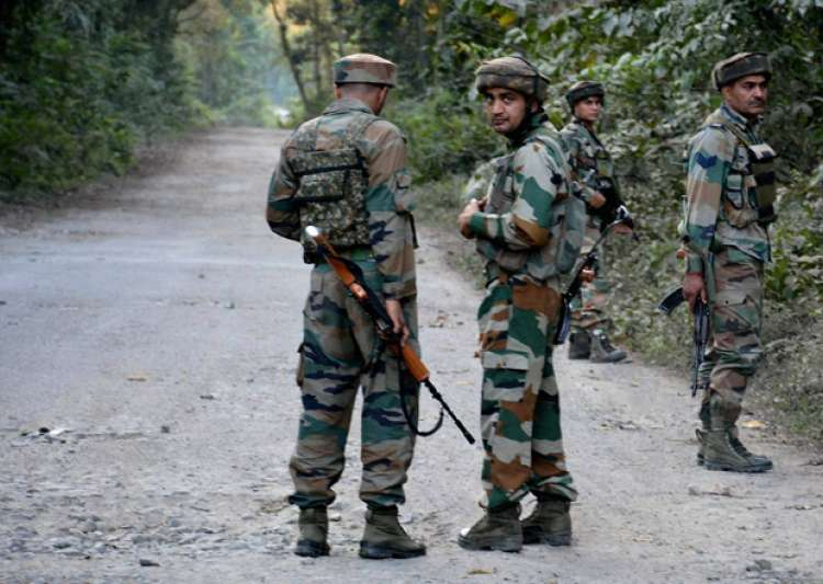 File pic - Security forces on foot patrolling in Kashmir - India Tv