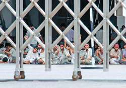 striking workers vacate two maruti plants