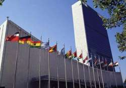 demonstration outside u.n. in support of hazare