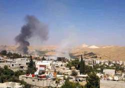 insurgents shell russian embassy in syria during rally