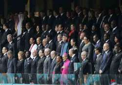 world leaders pay homage to mandela at memorial service