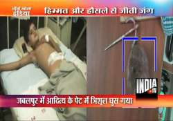 boy survives after trident pierces his stomach twice in mp