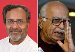 cong alleges advani shared stage with bootlegger in daman