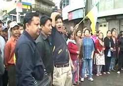 gorkhaland supporters set homeguard on fire arson in