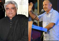 javed akhtar leaves after forced to make way for manish
