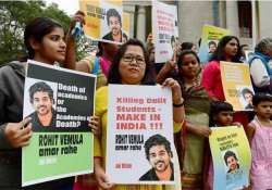 dalit student suicide politicians head to hyderabad as