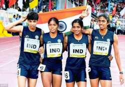 indian athletics team leaves for asian youth championships