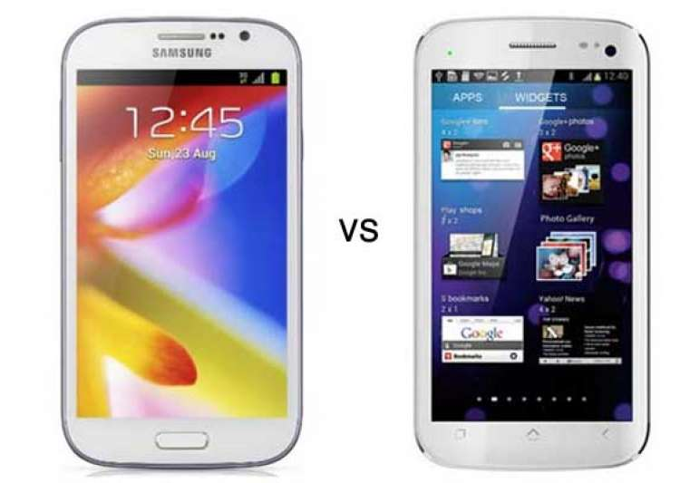comparison micromax canvas hd vs samsung galaxy grand- India Tv