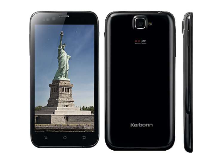 karbonn launches 5 inch titanium s5 with quad core- India Tv