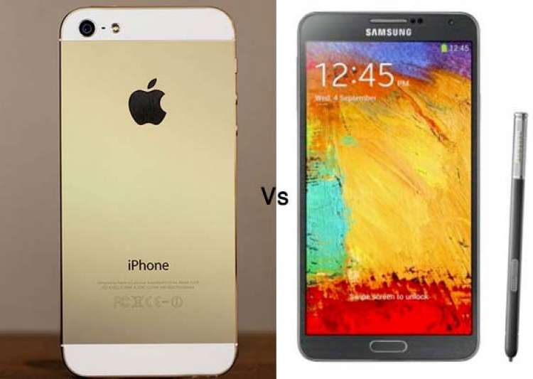apple iphone 5s vs samsung galaxy note 3 a comparison of- India Tv