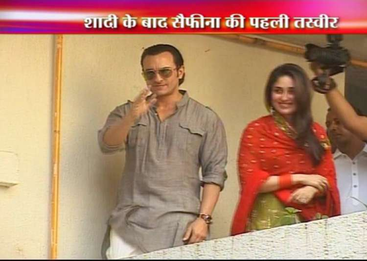 saif kareena enter wedlock after 5 year courtship- India Tv