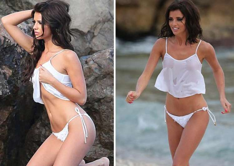 english actress lucy mecklenburgh goes nude for a- India Tv