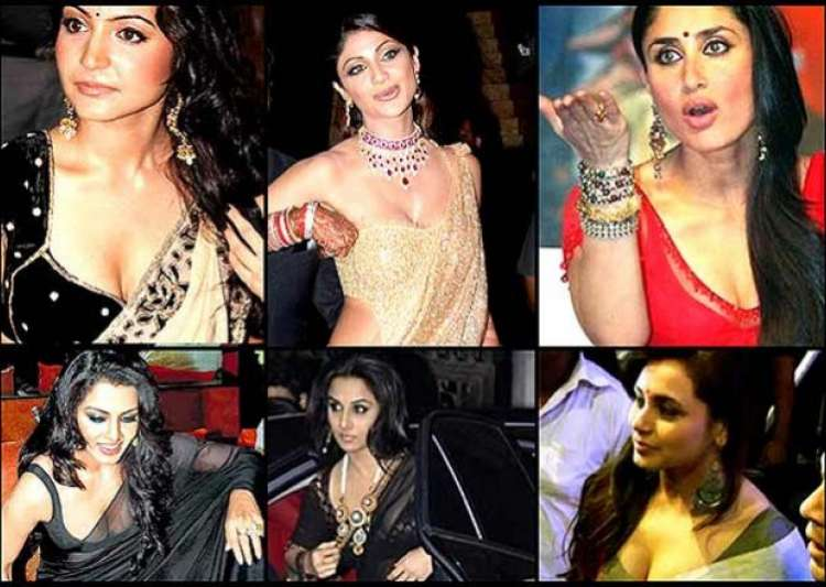 bollywood babes saree slip up moments see pics- India Tv