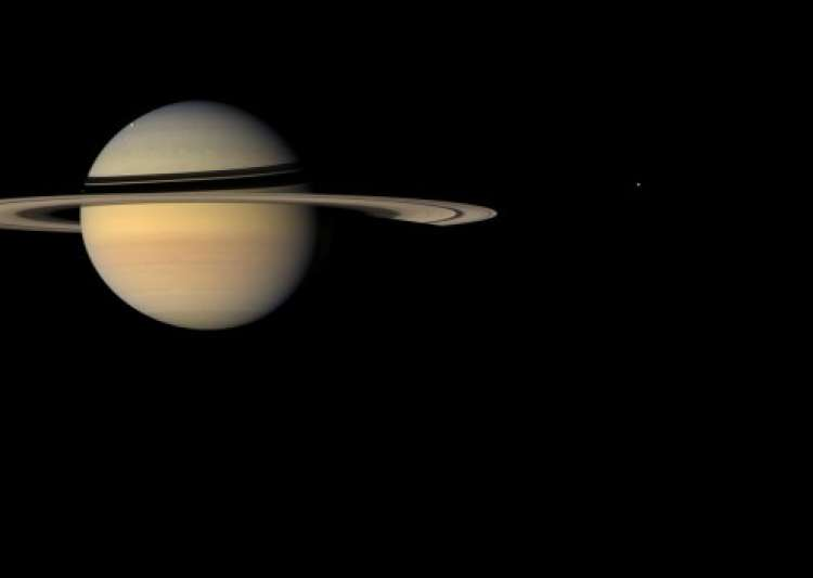 saturn and its moons and their positions - photo #19