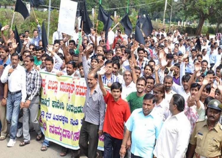 tension protests in karnataka after sc orders release of- India Tv