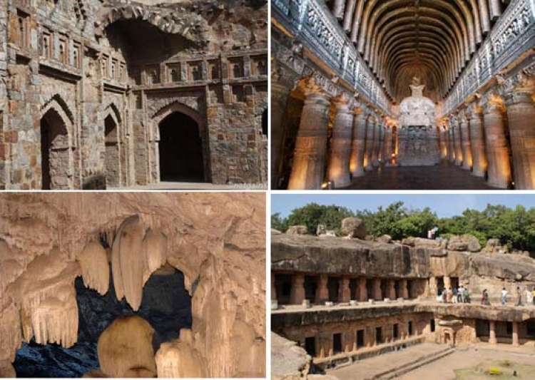 7 amazing rock cut caves in india- India Tv
