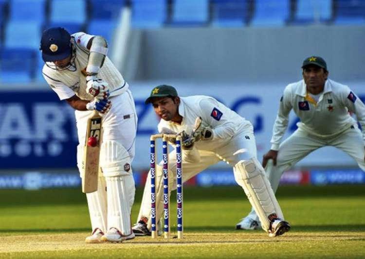 pakistan sri lanka series day 1 3rd test sri lanka 64 1 at- India Tv