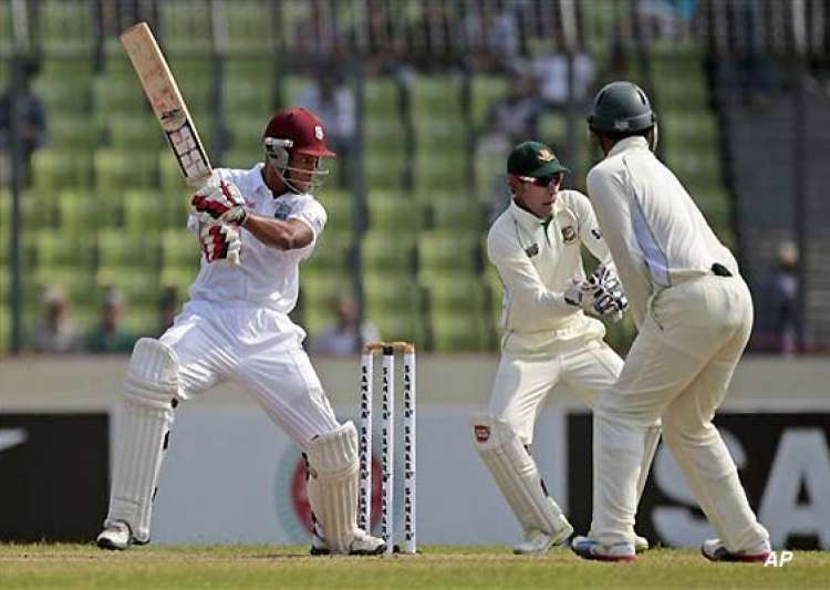 west indies reaches 361 4 at stumps on day 1- India Tv