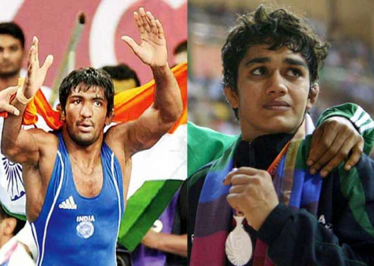cwg 2014 grapplers give india 2 more gold as india take medals tally 45- India Tv