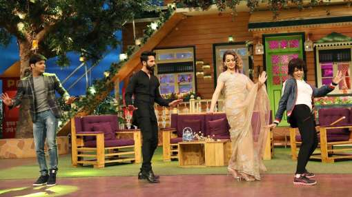 Kangana Ranaut accompanied with Shahid Kapoor was also seen dancing with her look alike on the show