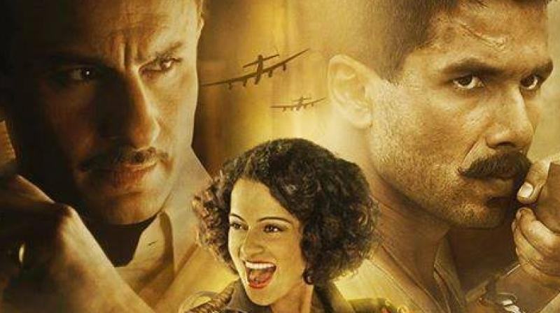 The Vishal Bhardwaj's directorial venture features talented actors Shahid Kapoor, Kangana Ranaut and Saif Ali Khan together. Recently released song 'Ye Ishq Hai' portrayed the intense love between the new pair Shahid and Kangana.