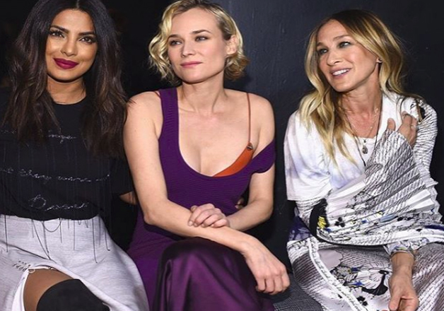 The 'Desi' girl looked gorgeous as she posed with Diane Kruger, and Sarah Jessica Parker.